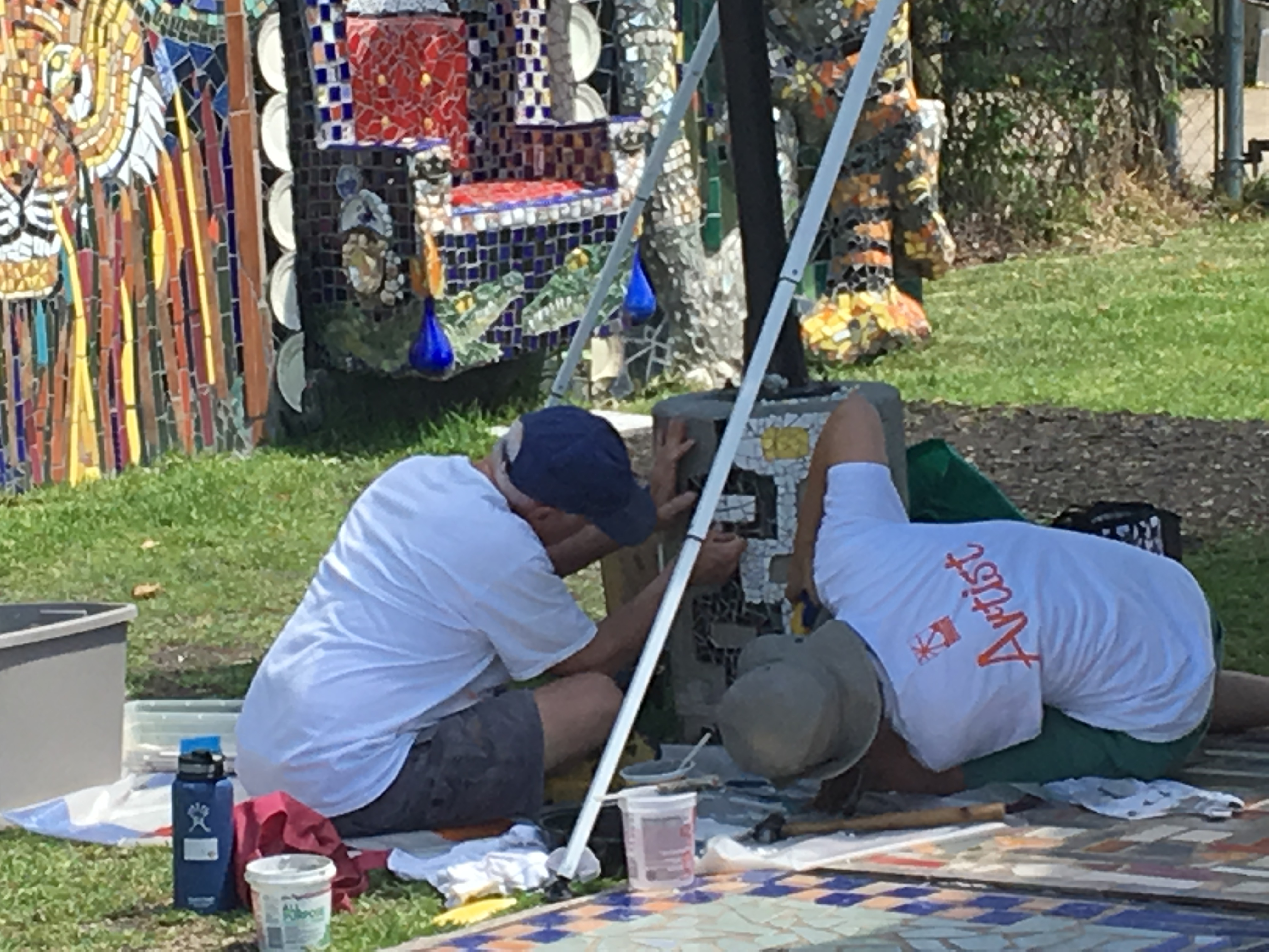 smither park mosaics - artists at work