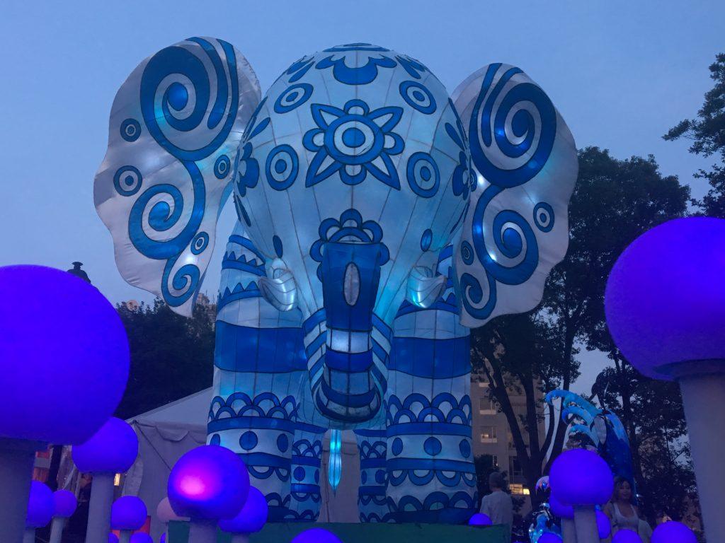 Large elephant lantern